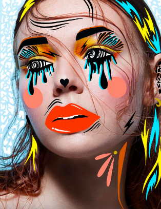 Too many makeup trends graphic image